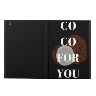 Co Co For You Coconut Illustration iPad Case