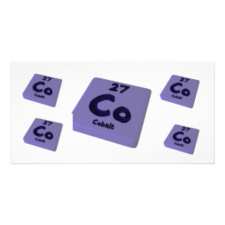 Co Cobalt Photo Card Template