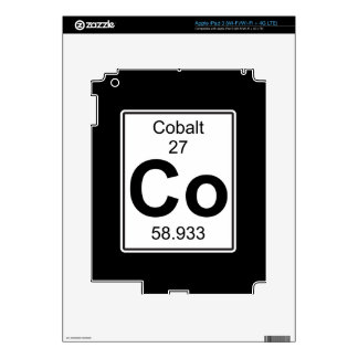 Co - Cobalto iPad 3 Pegatinas Skins