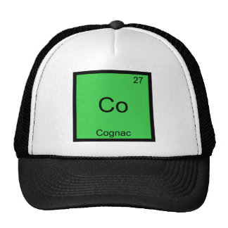 Co - Cognac Funny Chemistry Element Symbol T-Shirt Trucker Hat