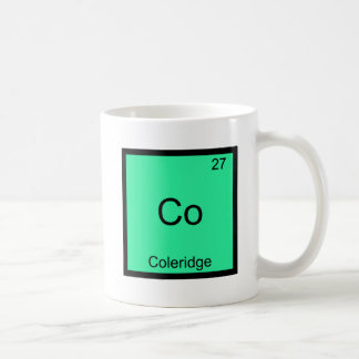 Co - Coleridge Funny Chemistry Element Symbol Tee Coffee Mug