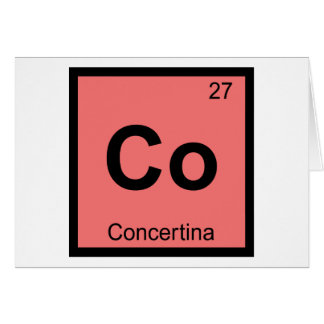 Co - Concertina Music Chemistry Periodic Table Greeting Card