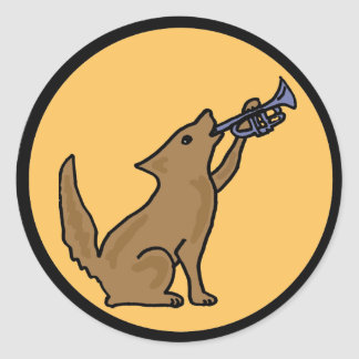 CO- Coyote Playing the Bugle Sticker