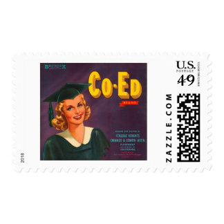 Co Ed Brand Oranges Vintage Advertisement Postage