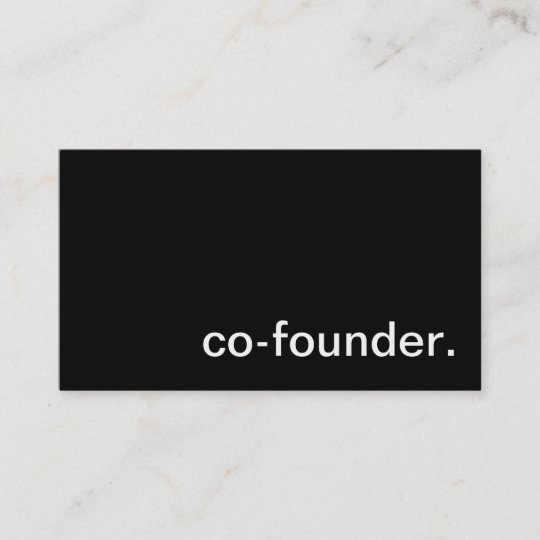 Co founder business card zazzle co founder business card colourmoves