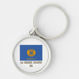 co k 2nd MO Inf Silver-Colored Round Keychain