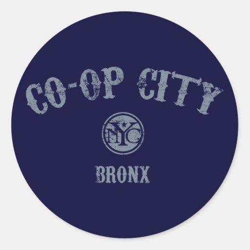 Co-op City Round Sticker