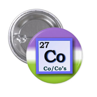 Co - Periodic Table personal gender pronouns pin