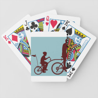 Co-pilot bicycle vector bicycle playing cards