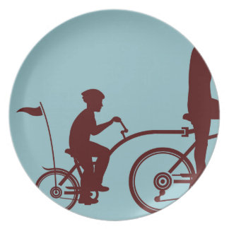 Co-pilot bicycle vector dinner plate