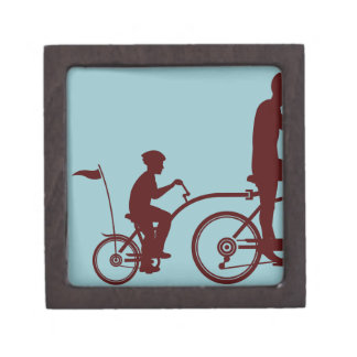 Co-pilot bicycle vector gift box