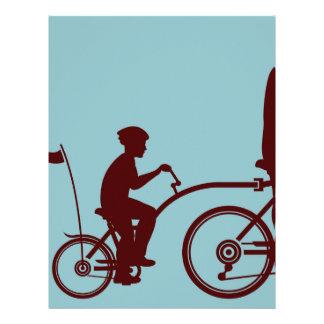 Co-pilot bicycle vector letterhead