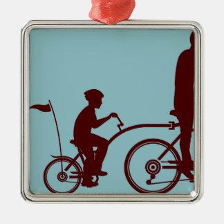 Co-pilot bicycle vector metal ornament