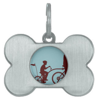Co-pilot bicycle vector pet tag