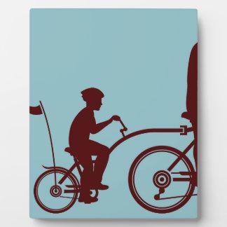 Co-pilot bicycle vector plaque