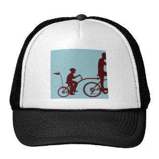 Co-pilot bicycle vector trucker hat