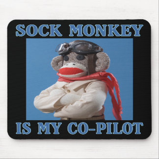 Co-Pilot Monkey Mousepad