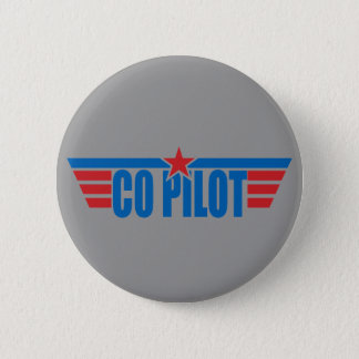 Co-Pilot Wings Badge - Aviation Pinback Button