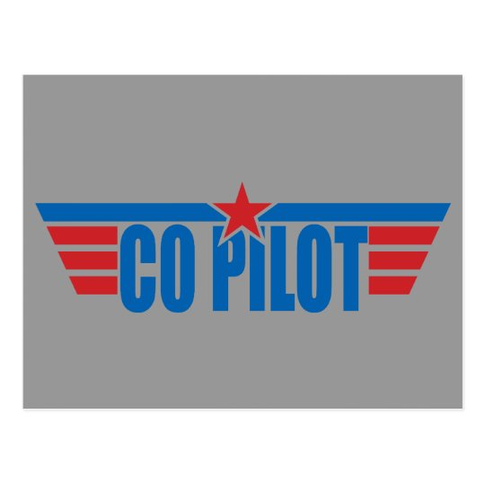 Co-Pilot Wings Badge - Aviation Postcard