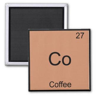 Co - Símbolo del elemento de la química del café Imán Cuadrado