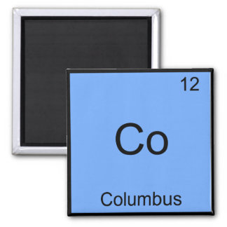Co - Símbolo divertido del elemento de la química Imán Cuadrado