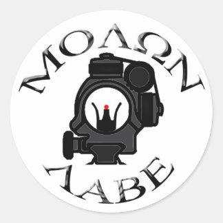co-witness sights/molon labe classic round sticker