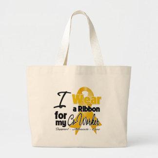 Co-Worker - Appendix Cancer Ribbon Jumbo Tote Bag
