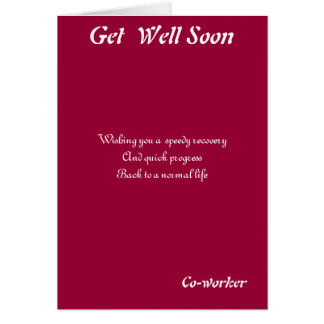 Co-worker get well soon cards