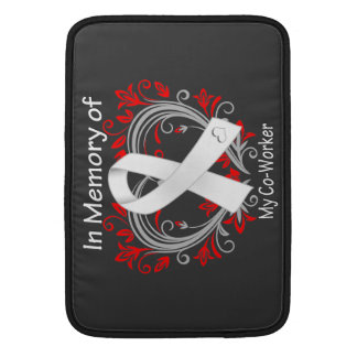 Co-Worker - In Memory Lung Cancer Heart Sleeve For MacBook Air