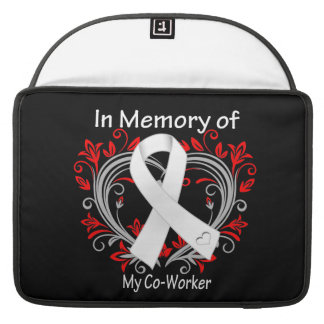 Co-Worker - In Memory Lung Cancer Heart MacBook Pro Sleeve