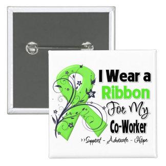 Co-Worker - Lymphoma Ribbon Pinback Button