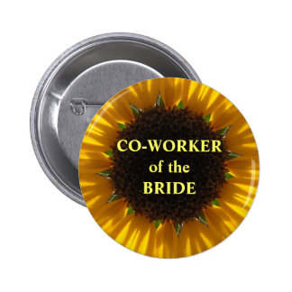 Co Worker Of The Bride Buttons