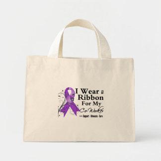Co-Worker Purple Ribbon - Pancreatic Cancer Mini Tote Bag