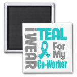 Co-Worker - Teal Ribbon Ovarian Cancer Support Magnet