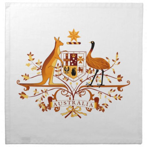 COA Brown de Australia Servilletas Imprimidas