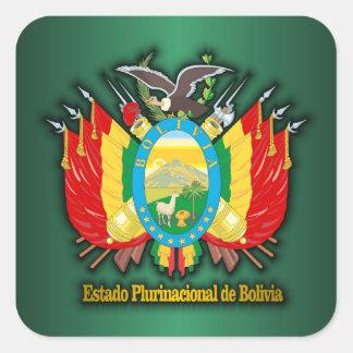COA de Bolivia Pegatina Cuadrada