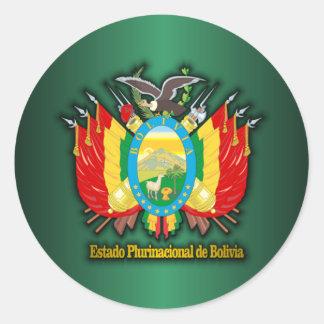 COA de Bolivia Pegatina Redonda
