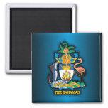 COA de Commonwealth de las Bahamas Imán Cuadrado