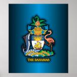 COA de Commonwealth de las Bahamas Póster