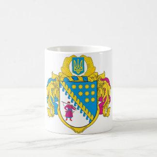 COA de Dnipropetrovsk Oblast, Ucrania Tazas De Café
