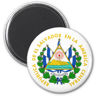 COA de El Salvador Imán Redondo 5 Cm