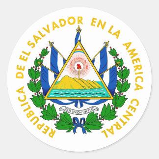 COA de El Salvador Pegatina Redonda