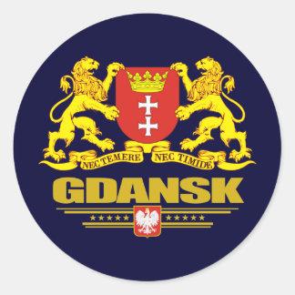 COA de Gdansk Pegatina Redonda