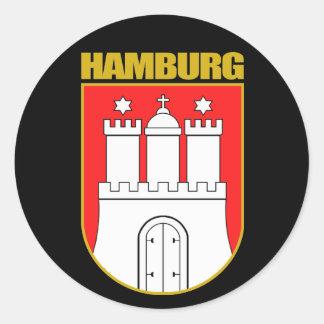 COA de Hamburgo Pegatinas Redondas