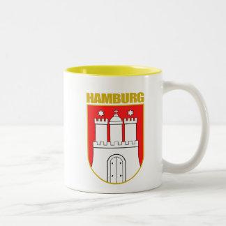 COA de Hamburgo Taza De Café De Dos Colores