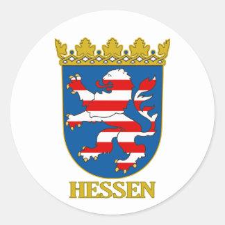 COA de Hesse (Hesse) Pegatinas Redondas