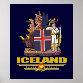 COA de Islandia Posters