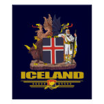 COA de Islandia Póster