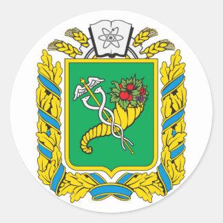 COA de Járkov Oblast, Ucrania Pegatinas Redondas