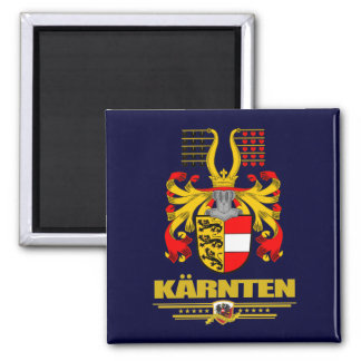 COA de Karnten (Carinthia) Imán Cuadrado